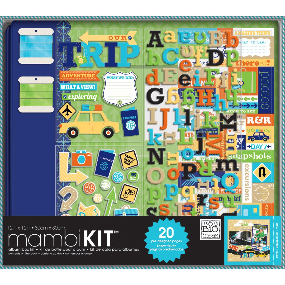 Me and My big Ideas Me and My big Ideas 30,5 cm par Kit Scrapbooking 30,5 cm, Notre Voyage Aventure BOX-59