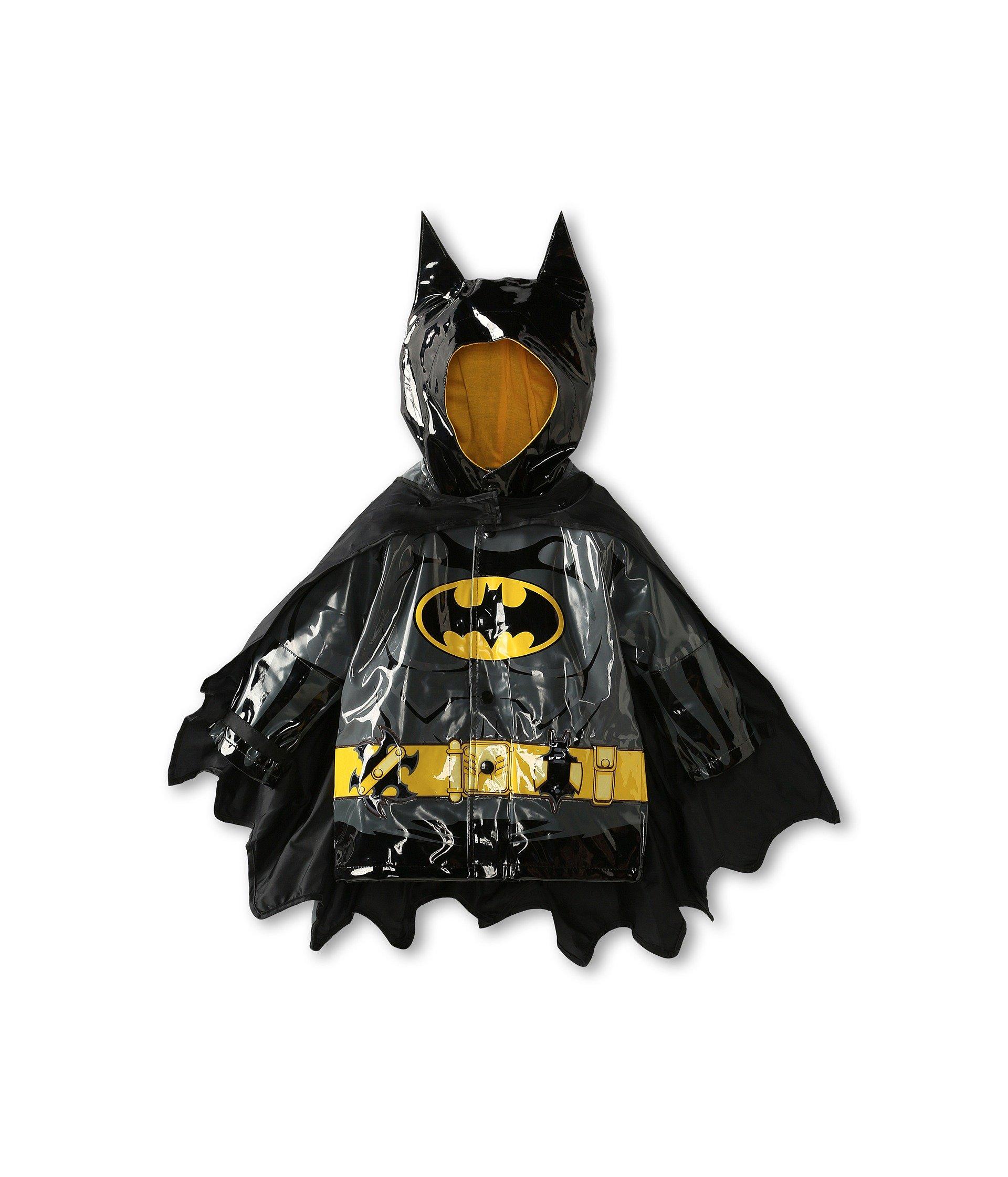 Western Chief Little Boys' Batman Everlasting Rain Coat, Black, 5/6