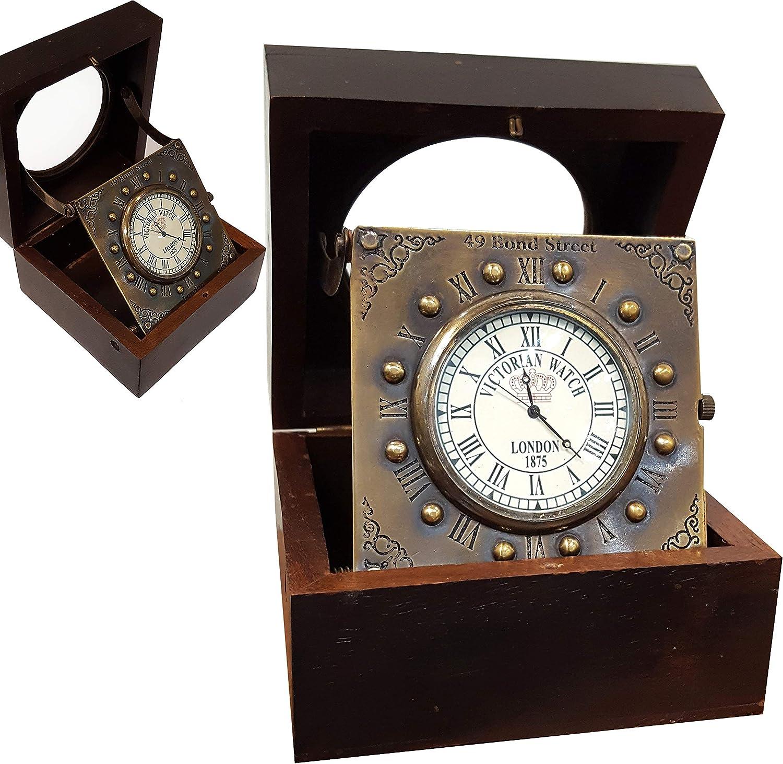 Vintage Titanic Wooden Clock Marine Home Decorative Handmade Article Brass Desk Clock Antique Gift Item