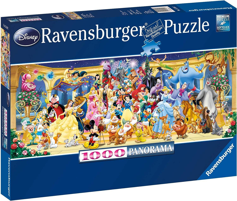 Ravensburger Personajes Disney - Puzzle Panorama, Premium Puzzle con tecnologia Softclick, 1000 piezas, para adultos (15109 7): Ravensburger: Amazon.es: Juguetes y juegos