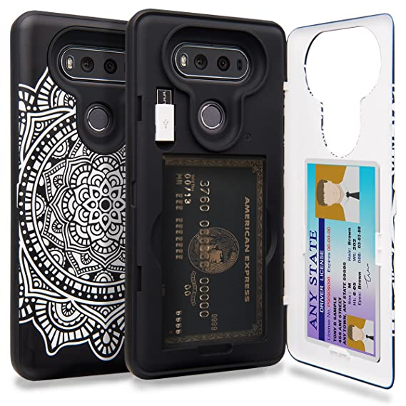 the latest ac649 2002c TORU CX PRO LG V20 Wallet Case Pattern with Hidden ID Slot Credit Card  Holder Hard Cover, Mirror & USB Adapter for LG V20 - Dreamcatcher