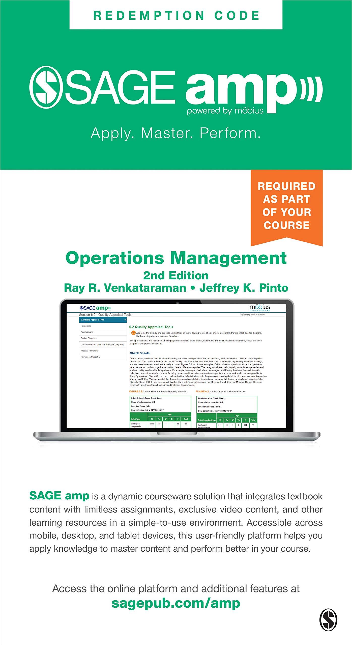 Operations Management - Sage Amp Edition: Managing Global