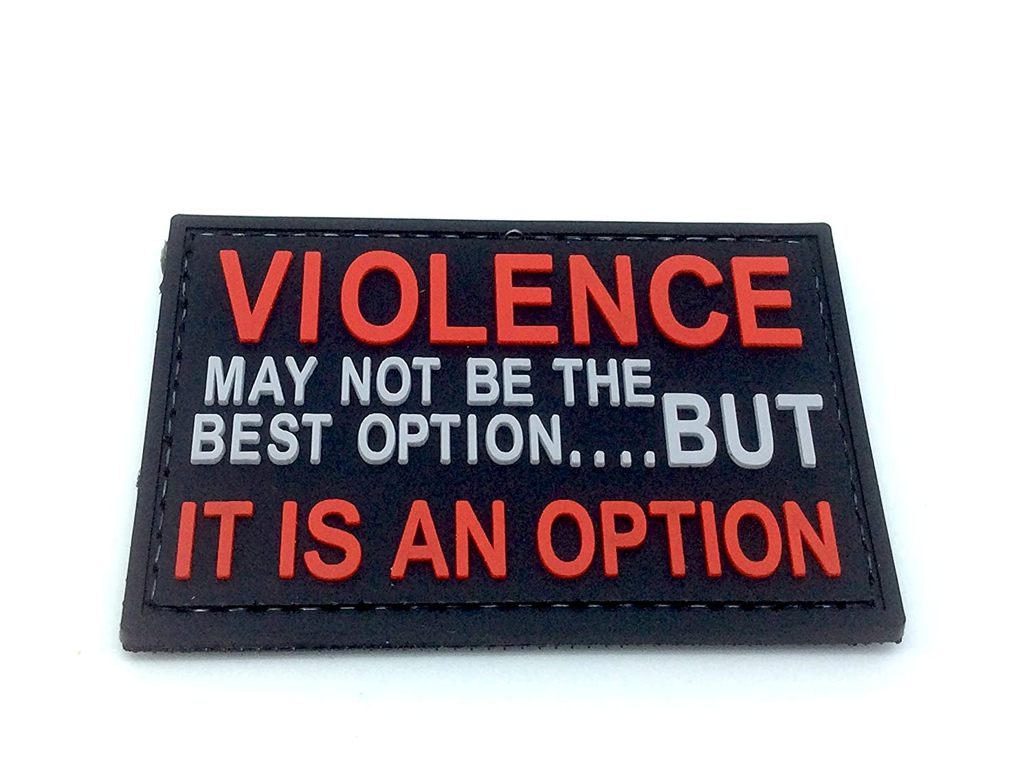 Violence is An Option PVC Airsoft Paintball Patch Patch Nation
