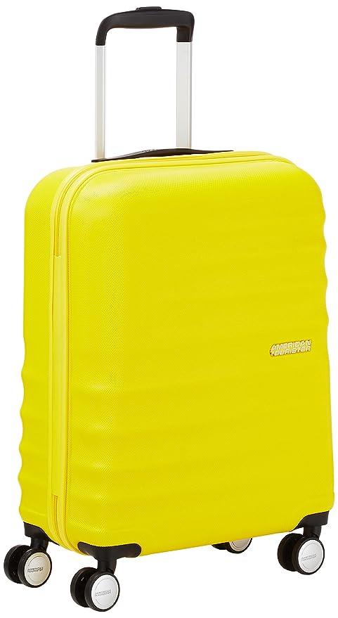 American Tourister WaveBreaker Spinner 55/20 - Equipaje de Mano, 36 Litros, Color Amarillo (Sunny Yellow)