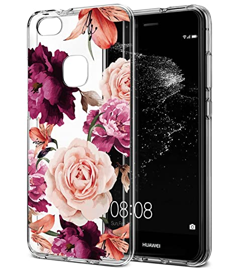 half off 632eb df099 HUAWEI P10 Lite Case, NOVA Lite Case with flowers, BAISRKE Slim Shockproof  Clear Floral Pattern Soft Flexible TPU Back Cove for HUAWEI P10 Lite/NOVA  ...