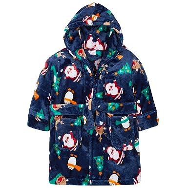 Baby Boys Girls Xmas Santa Penguin Hooded Fleece Bath Robe Novelty Dressing  Gown Best Christmas gifts 2018 04018e89a