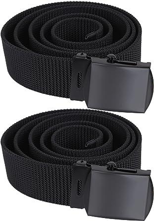 Nylon Canvas Web Belt Breathable Heavy Duty Military Tactical Waist Belt  with Metal Buckle (44 a506274f861