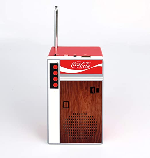 Coca Cola Retro Style Bluetooth Speaker and FM Radio