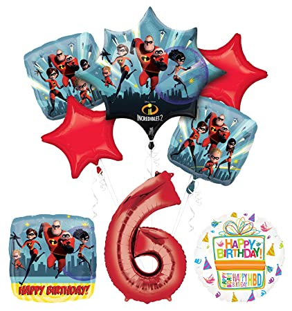 Amazon.com: Incredibles 2 suministros para fiesta 6th ...