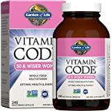 Garden of Life Multivitamin for Women 50 & Over, Vitamin Code Women 50 & Wiser Multi - 240 Capsules, Vitamins for Women 50 Pl