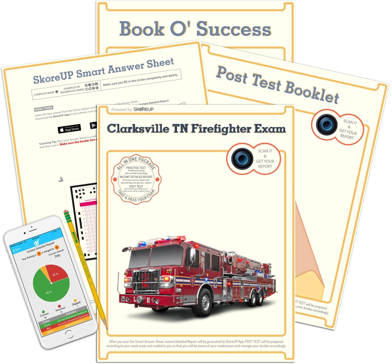 Clarksville TN Firefighter Exam, Tennessee Fire Fighter Test Prep