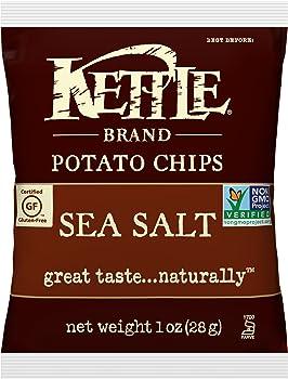 72 Packs Kettle Brand Sea Salt 1 Ounce Potato Chips Bags
