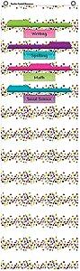 Confetti 10 Pocket File Storage Pocket Chart (14