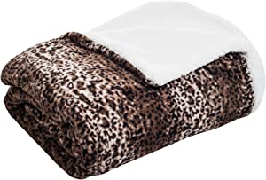 Lavish Home Sherpa Backing Fleece Blanket, King, Mink