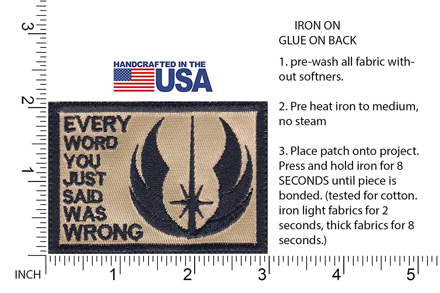 Jedi Skywalker Everything Said Is Wrong Star Wars Inspired Art Patch Clothing Shoes Jewelry Accessories Visitclaremore Org