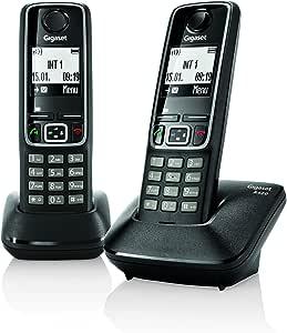 Gigaset A420 - Teléfono fijo digital (altavoces, manos libres), negro: Amazon.es: Electrónica