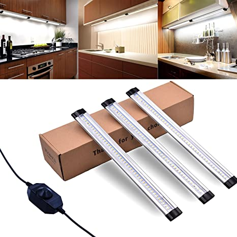 Led Light Bar Kitchen Cabinet LED Under CabiLighting, LED Light Bar, Dimmable Under Counter