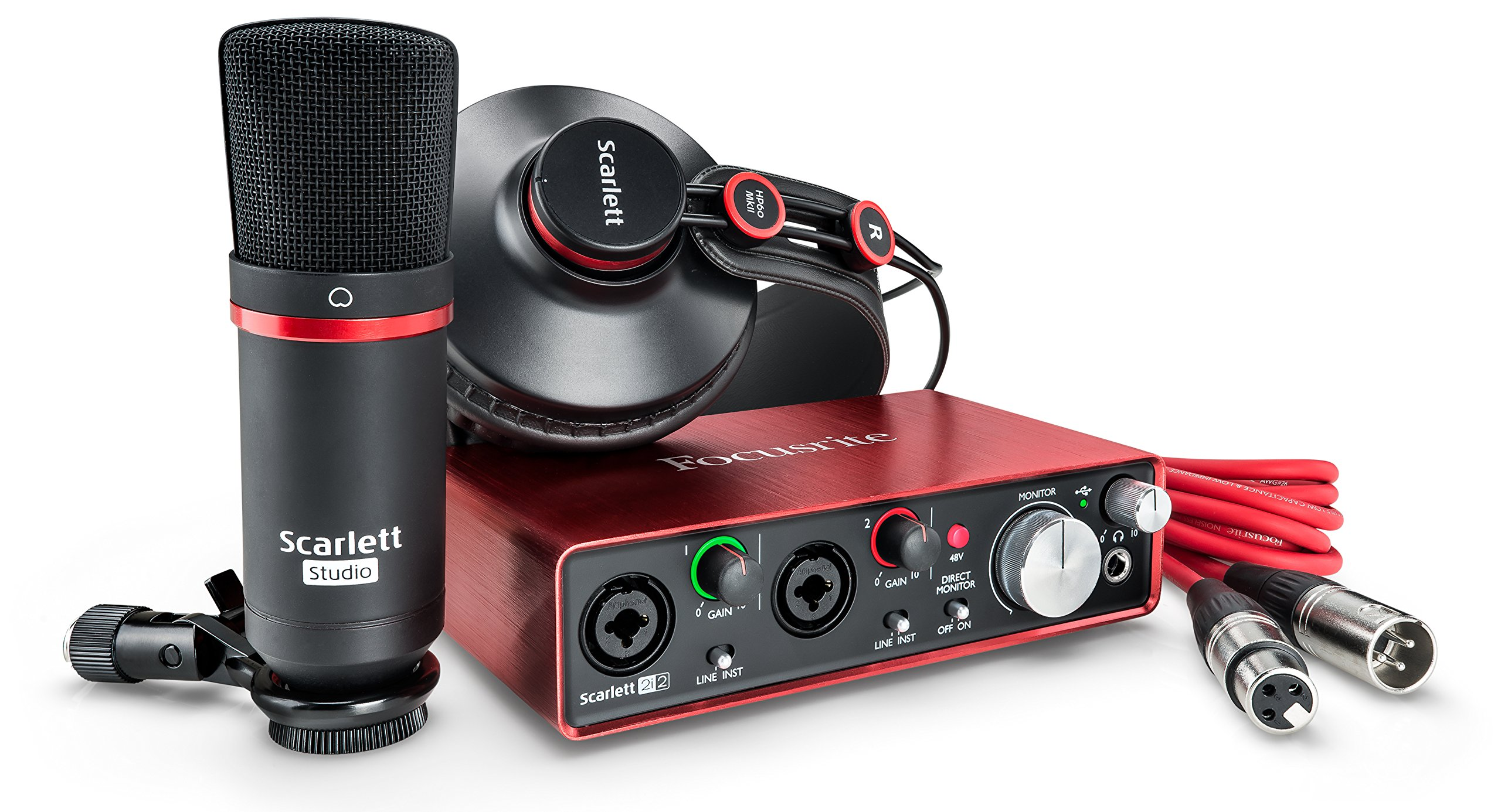 Focusrite Scarlett 2i2 Studio (2nd Gen) USB Audio Interface and Recording Bundle with Pro Tools | First by Focusrite