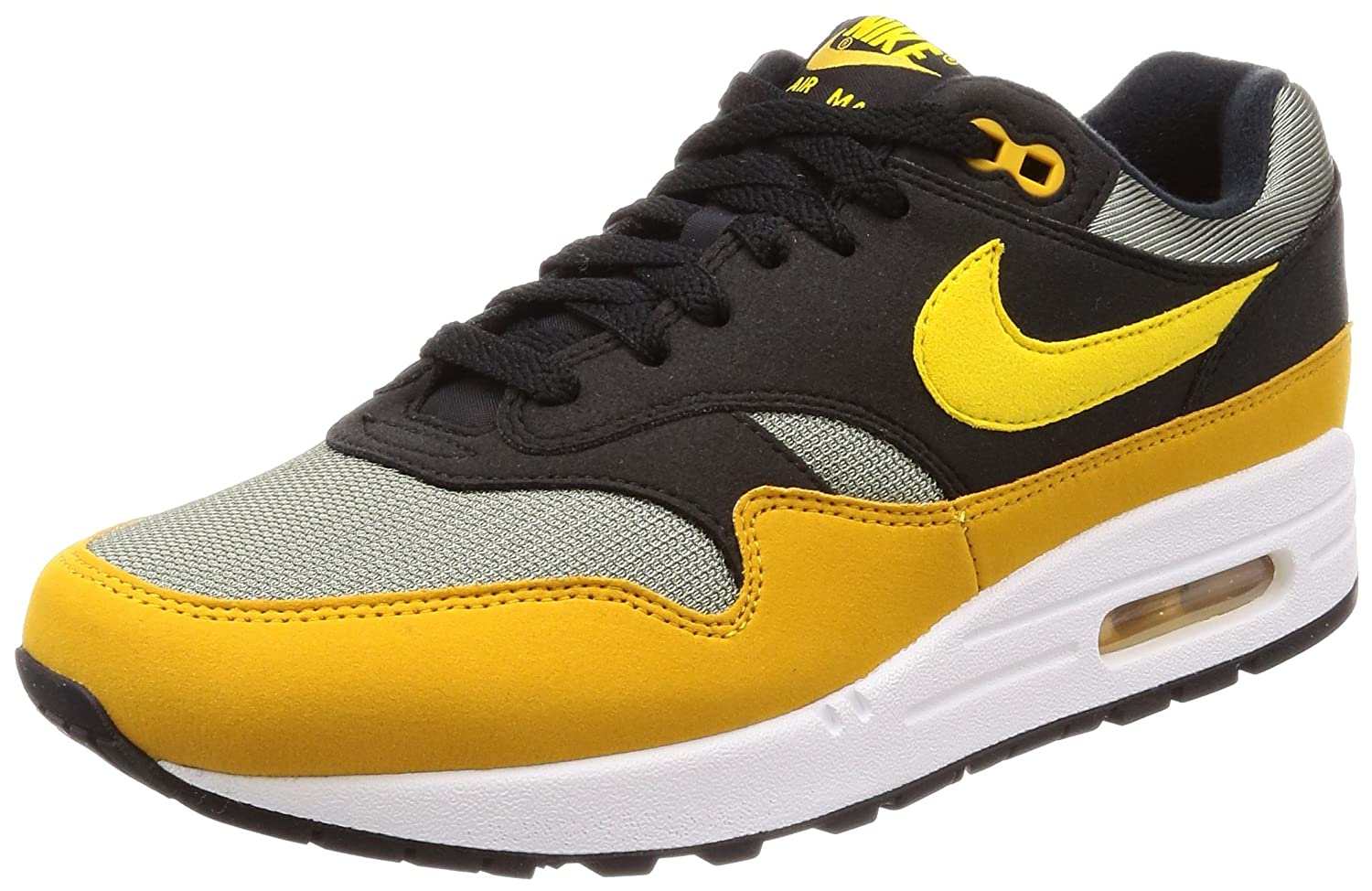 Amazon.com | NIKE - Air Max 1 - AH8145001 - Color: Yellow-Grey-Black - Size: 8.0 | Fashion Sneakers