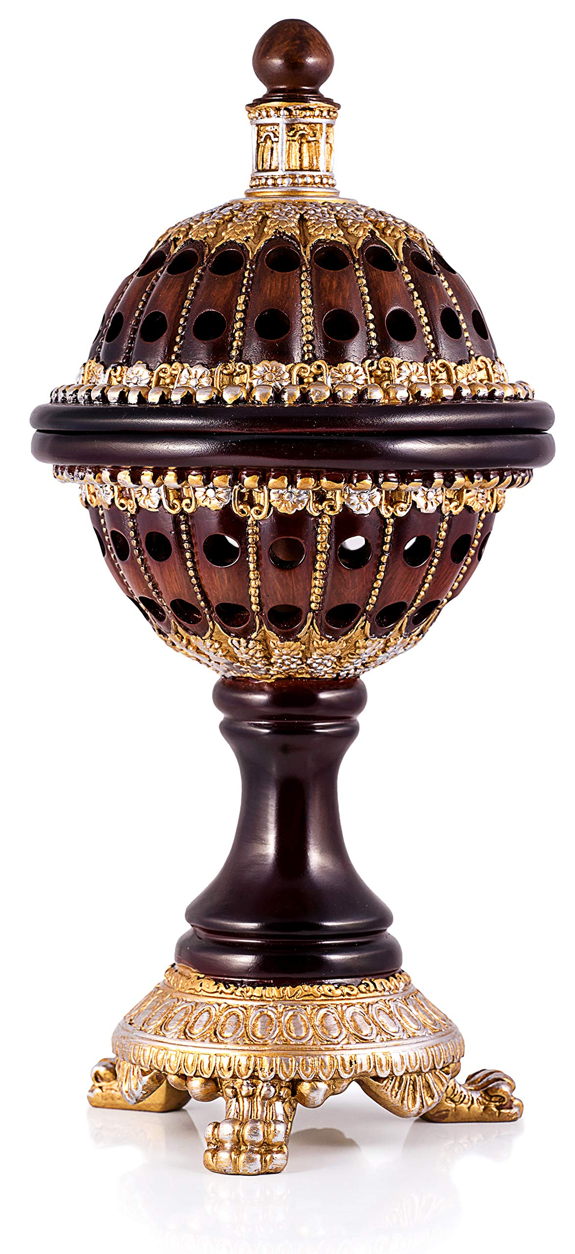 AM Incense Burner Frankincense Resin - Luxury Globe Charcoal Bakhoor Burners For Office & Home Decor