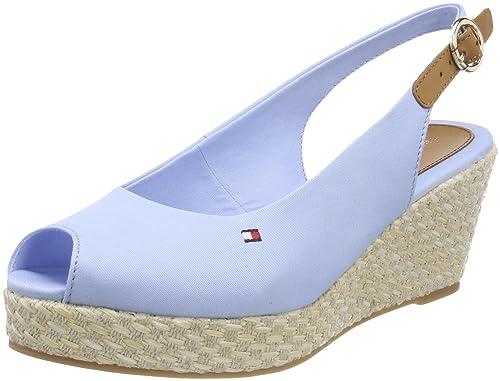 Iconic Elba Basic Closed Toe, Alpargata para Mujer, Azul (Chambray Blue 407), 40 EU Tommy Hilfiger