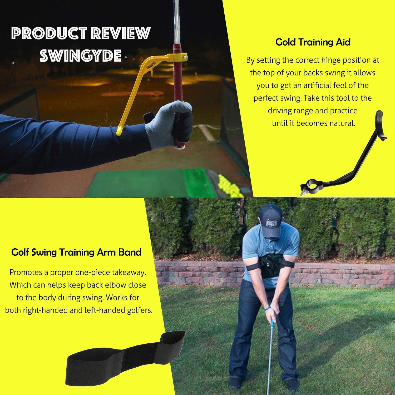 ETROL Golf Swing Training Aid Practicing Guide - Golf Swing Arm Band Training Aid - Gold Training Set by ETROL (Image #2)