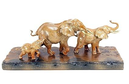 Plank 90 Cm.Amazon Com Contemporary Sculpture Bronze Family Of Elephants On