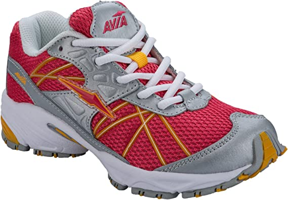 Avia - Zapatillas de Cuero para niña Plateado Plata, Color Rosa, Talla 27 EU Niño: Avia: Amazon.es: Zapatos y complementos