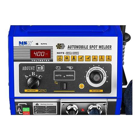 MSW S-SPOTTER 4000 Soldadora por Puntos Spotter Car (4000 A, 400 V, Tiempo de Soldadura 0.2-2 s, Uso Automático / Manual, 3 Ajustes de Corriente de ...