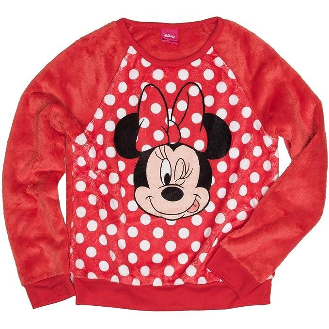 Disney Minnie Mouse Winking Girls  Long Sleeve Crew Neck Sweatshirt (M (7- 32cfa9f2e
