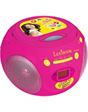 Soy Luna Disney Reproductor Radio CD, Altavoz Portátil, Rosa (Lexibook RCD102SL), Color