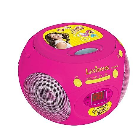 Soy Luna Disney Reproductor Radio CD, Altavoz Portátil, Rosa (Lexibook RCD102SL),
