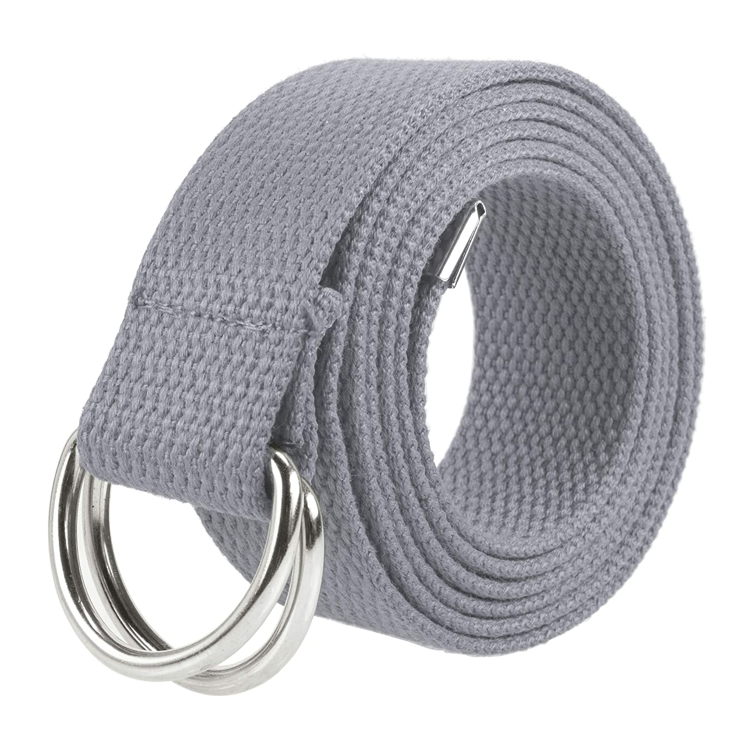 Gelante Canvas Web D Ring Belt Silver Buckle Military Style for men /& women 1 or 3 pcs