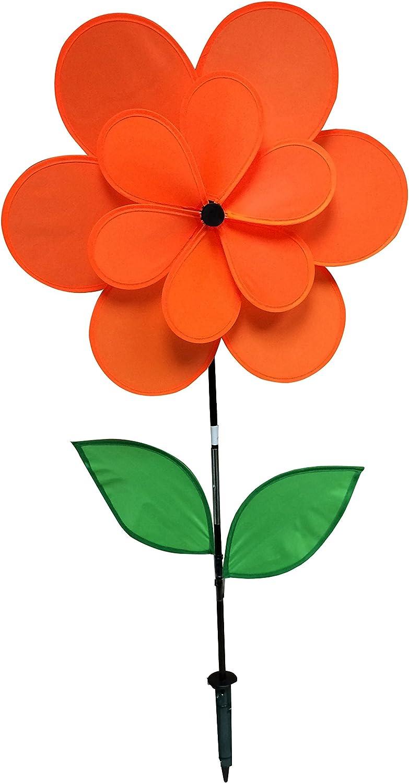 18 by 28 Gardeners Select A024A Double Petal Pin Wheel Orange