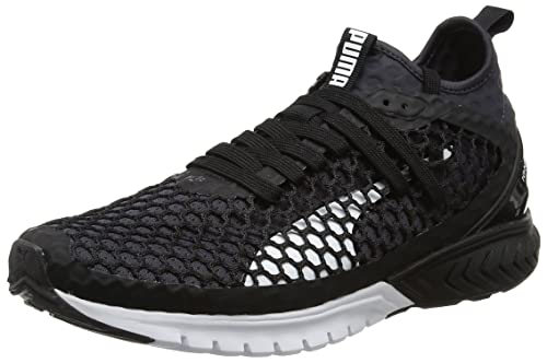 b220839b15966a Puma Men s Ignite Dual Netfit Black-Quiet Shade Running Shoes - 10 UK India