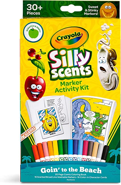 Amazon Com Crayola Silly Scents Markers Activity Coloring Book