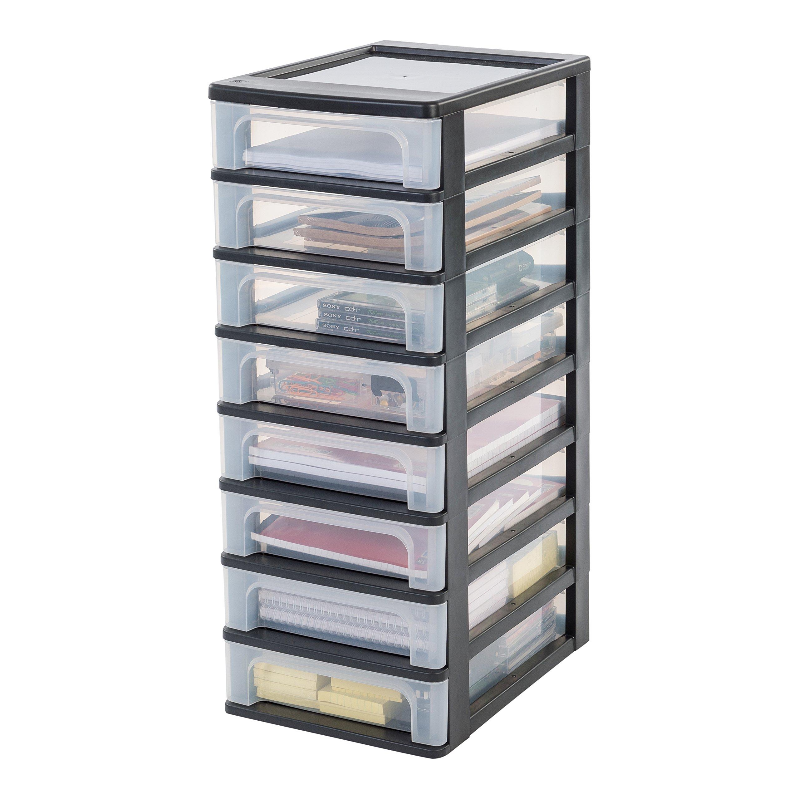 Einzigartig Rollcontainer Kunststoff Galerie Von Iris Organizer Chest Och-2080 Schubladencontainer-/schrank, Kunststoff, Schwarz/transparent,
