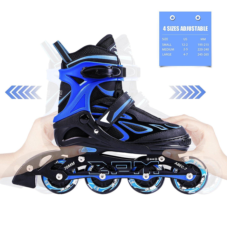 2pm Sports Vinal Azurblau Größe verstellbar Inline Skates für Jungen ...