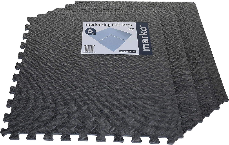 Marko EVA Grey Mat Foam Interlocking 60cm Floor Mats Gym Work Home
