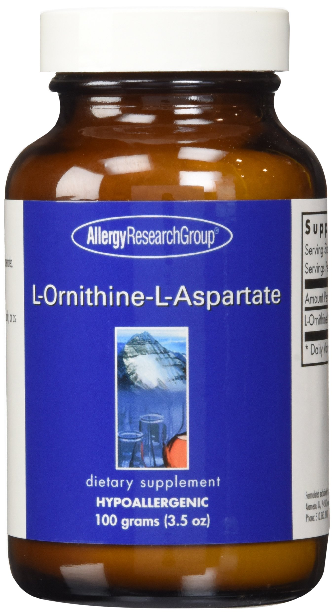 Allergy Research Group - L-Ornithine-L-Aspartate Powder - 100 g by Allergy Research Group