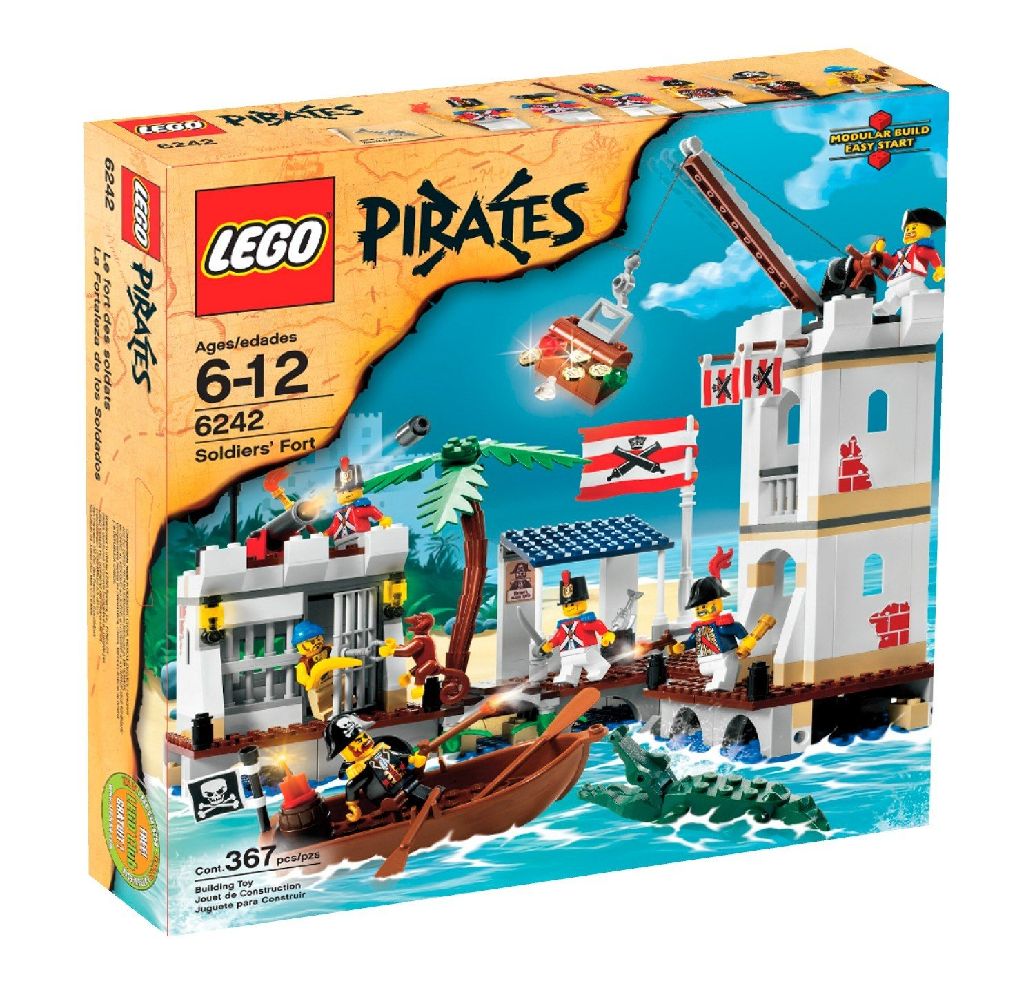 amazoncom lego pirates soldiers fort 6242 toys games - Lego Pirate