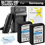 2 Pack Battery and Charger Kit For Samsung NX1000, NX210, NX200, NX300, NX2000, NX1100, NX500 Digital Camera Includes 2 Extended Replacement (1200maH) ED-BP1030, ED-BP1130 (BP1030), (BP1130) Batteries + Ac/Dc Charger + More
