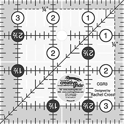 Creative Grids 2.5 Square Quilting Ruler Template CGR2