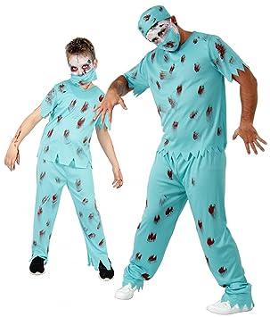 Foxxeo Zombie Disfraz de Halloween para Hombres Cirujano Fiesta de ...