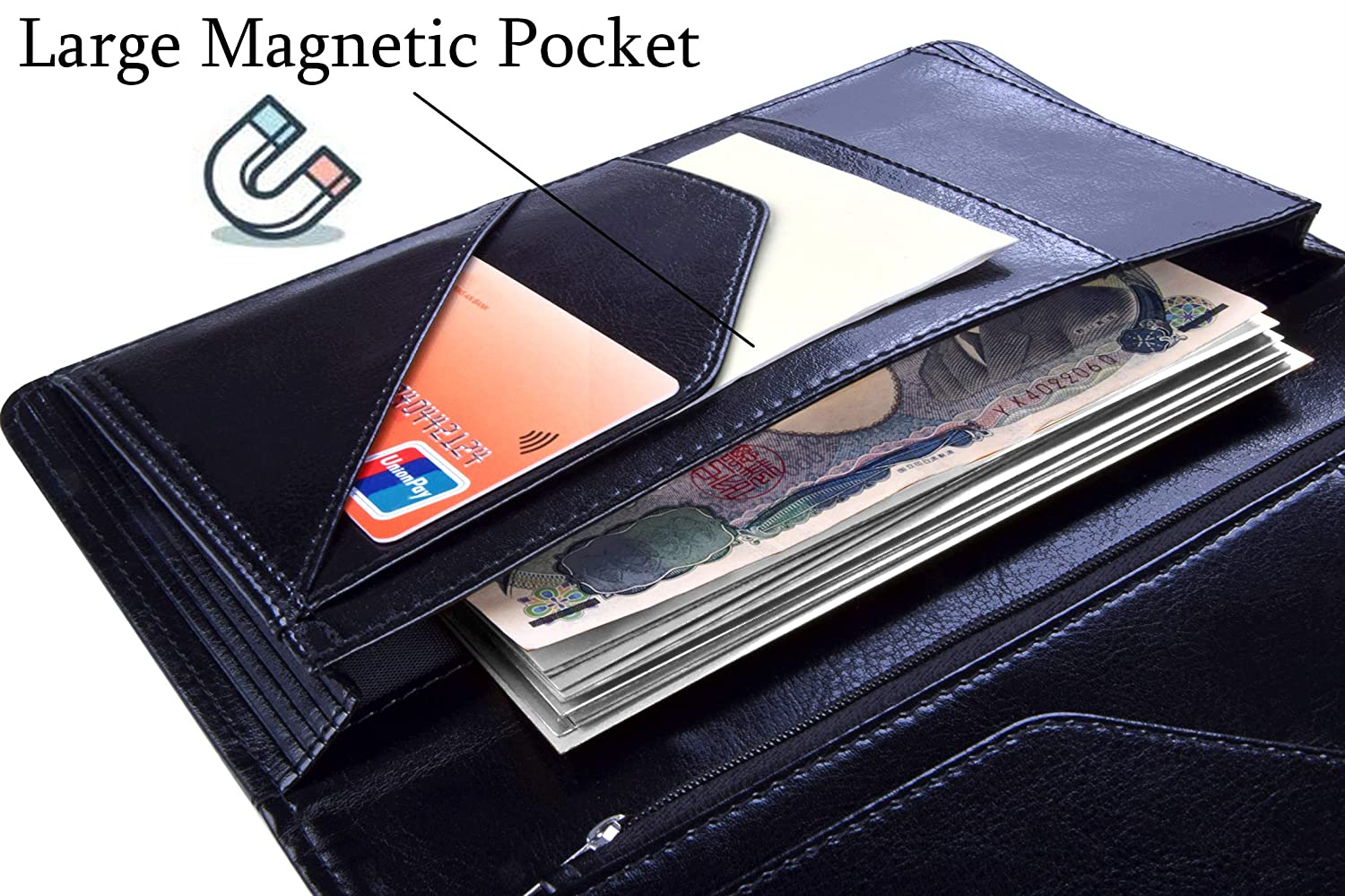 Details about  /5x9 Server Book for Waitress Organizer Magnetic With Zipper Money Pocket Pad NEW