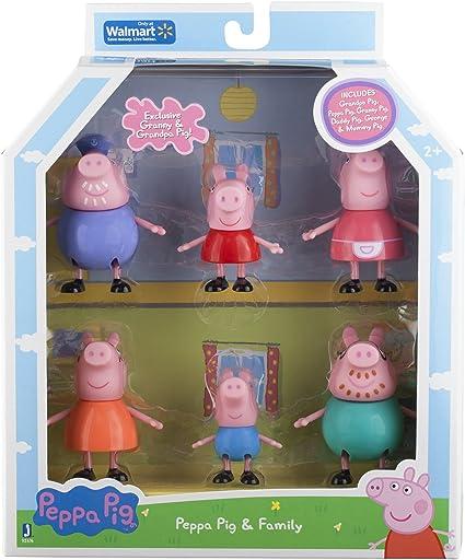 Peppa Pig and Family Figure Grandpa Granny Exclusive Set of 6 by Peppa Pig: Amazon.es: Juguetes y juegos