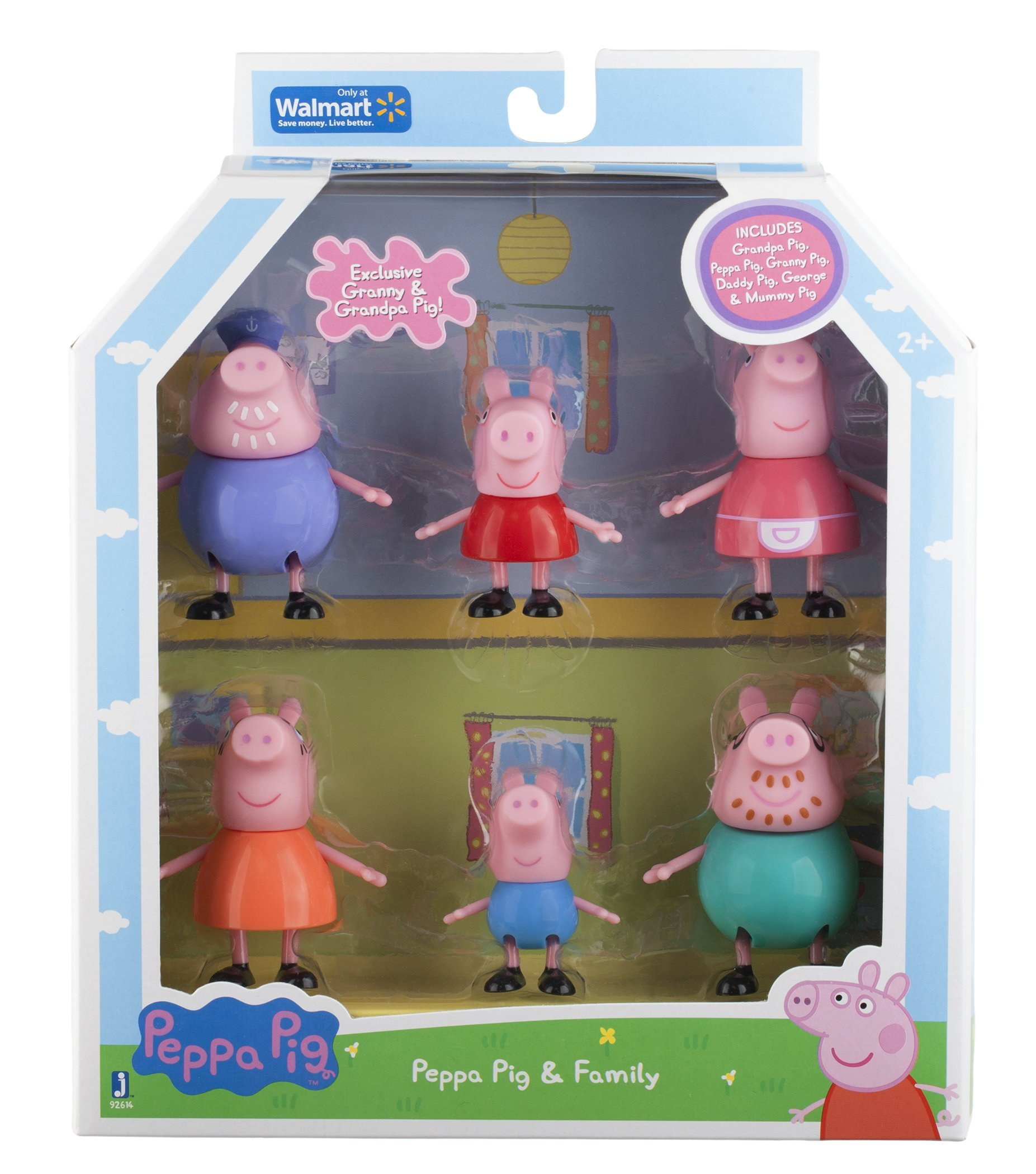 Peppa Pig And Family Figure Grandpa Granny Exclusive Set Of 6 8