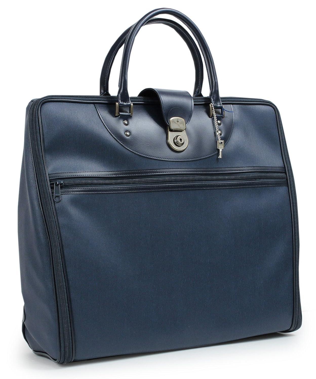 きもの京小町 着物バッグ レディース 持ち運び 和装 B079VF6LZF ボストン柄紺色