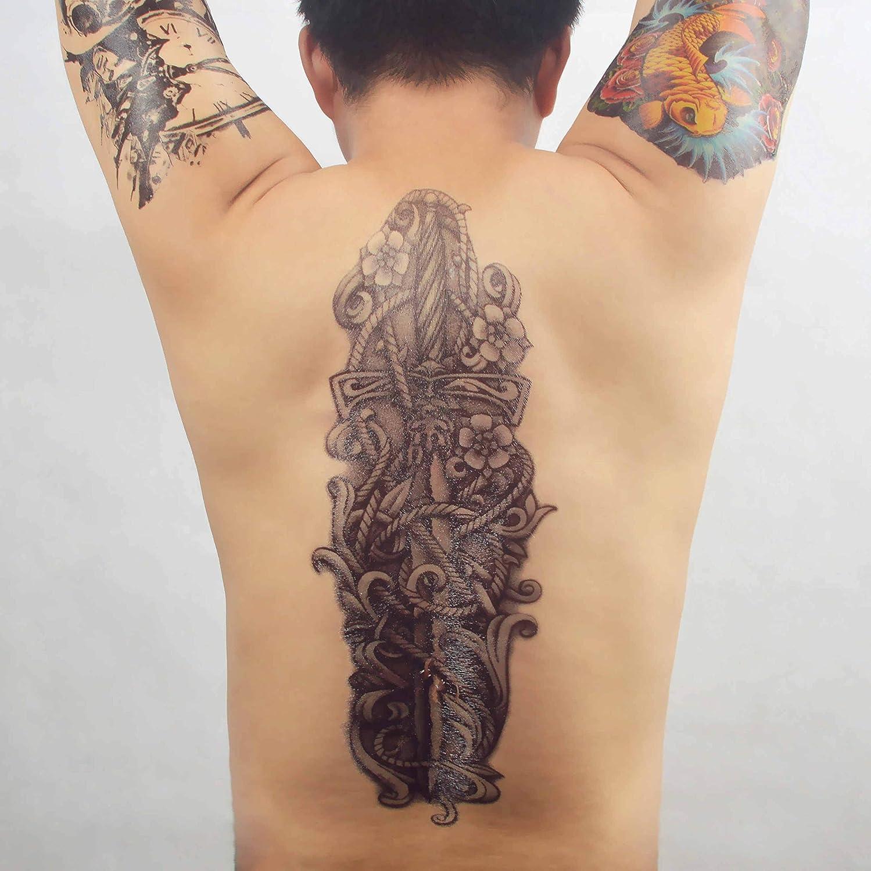 COKOHAPPY Temporales Tatuaje Cráneo Calavera Serpiente Snake ...