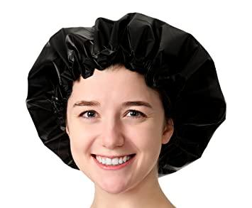 5314098e2ed Amazon.com   Adjustable Large Shower Cap - The Satin Dream WaterProof  ShowerCap By Simply Elegant  The Best in Medium to Long Hair Products and  Protection ...